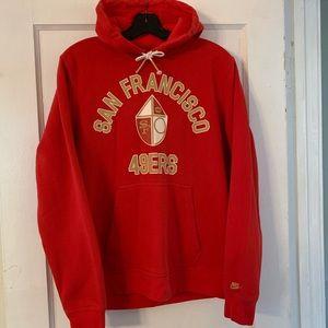 Nike San Francisco 49ers Spellout Hoodie Sz M